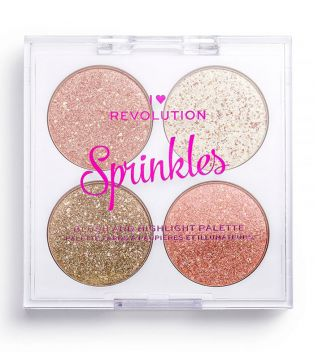 I Heart Revolution - Blush and Highlighter Palette Sprinkles - Confetti Cookie