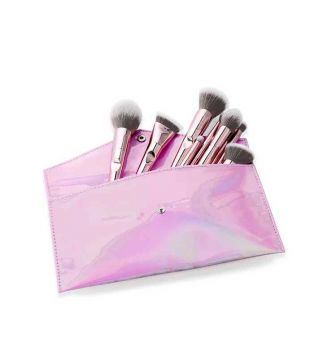 Jessup Beauty - Set de pinceaux 10 pcs et trousse - T260: Luxurious Light Pink
