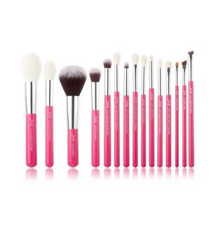 Jessup Beauty - Set de pinceaux 15 pcs - T202: Rose Carmin/Silver