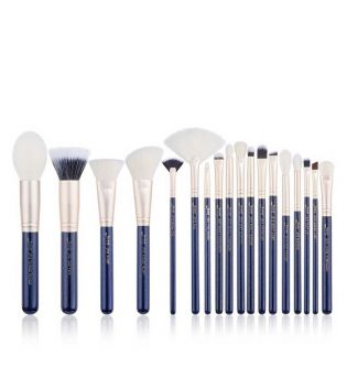 Jessup Beauty - Ensemble de 18 pinceaux - T491: Prussian Blue / Golden Sands