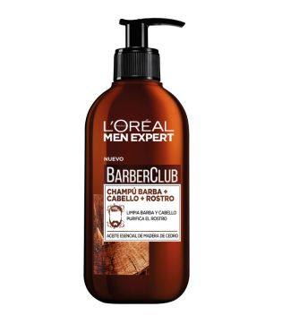 Loreal Paris - Shampooing 3 en 1: Barbe + Cheveux + Visage Barber Club Men Expert