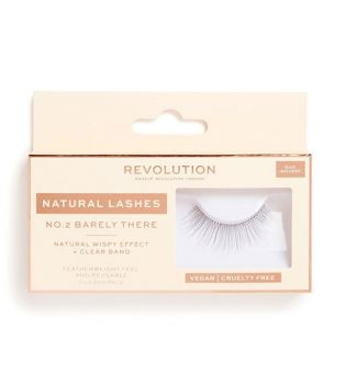 Revolution - Faux cils Natural Lashes - Nº.2 Barely There