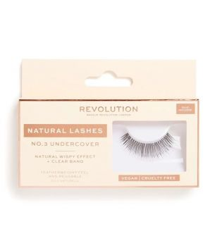 Revolution - Faux cils Natural Lashes - Nº.3 Undercover