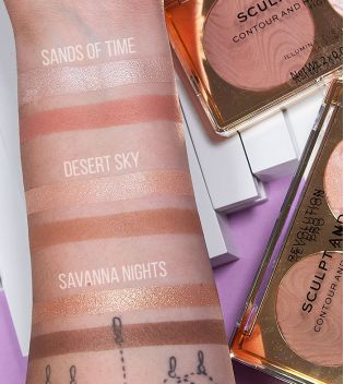 Revolution Pro - Highlight & Contour Palette Sculpt and Glow - Savanna Nights