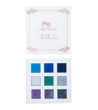With Love Cosmetics - Palette d'ombres et glitter pressées - The Blue One